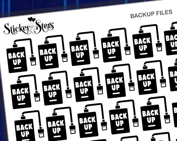 Backup Computer Foil Options Available | F218 Planner Stickers