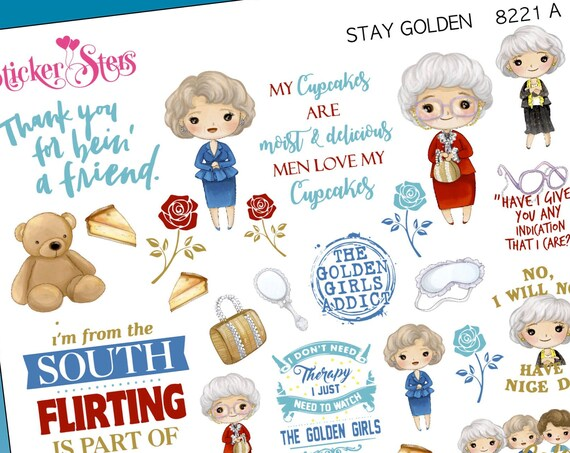 Stay Golden Planner Stickers Stickers Mini Kit | 8221