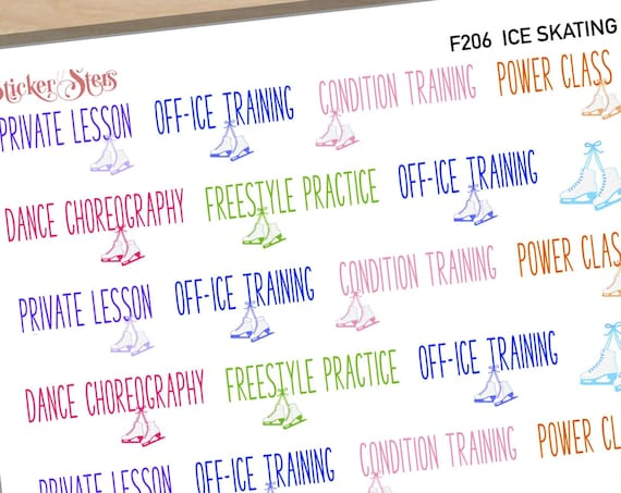 Ice Skating Practice Reminders  | F206 Planner Stickers