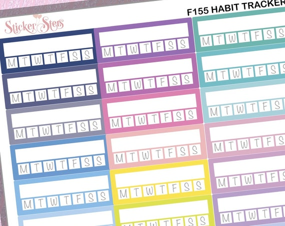 Habit Trackers 39 Individual Reminders  | F155 Planner Stickers