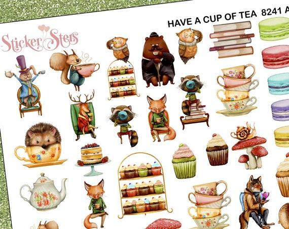 Have a Cup of Tea Planner Stickers Stickers Mini Kit | 8241