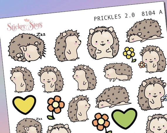 Prickles the Hedgehog 2.0 Planner Stickers Mini Kit | 8104