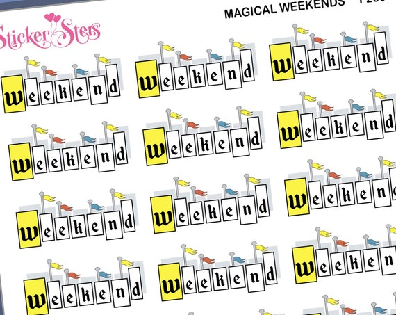 Magical Weekends  27 Small Stickers | F260 Planner Stickers
