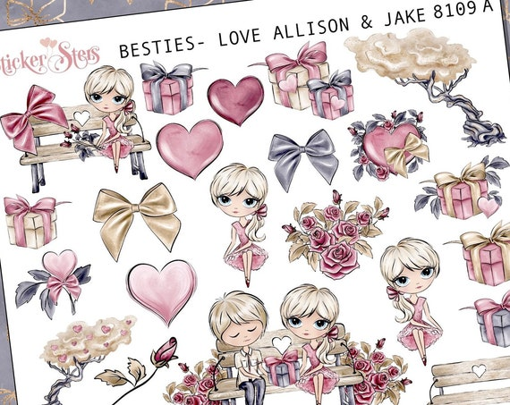 Besties - Love (you pick the couple) Planner Stickers Stickers Mini Kit 8109 C