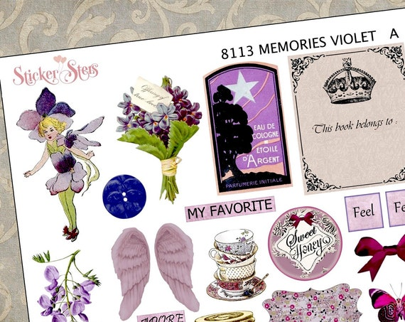Memories Violet Themed Ephemera Mini Kit | 8113