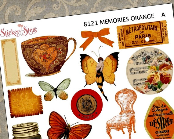 Orange Themed Ephemera Mini Kit | 8121