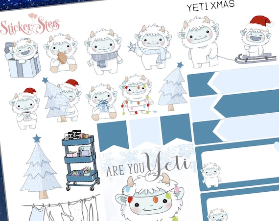 Are you Yeti for Christmas Planner Mini Sticker Set  | A1001 Planner Stickers