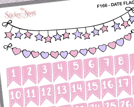 Date Flags | F166 Planner Stickers