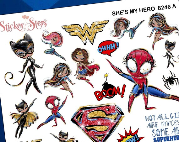 She's My Hero Planner Stickers Stickers Mini Kit | 8246