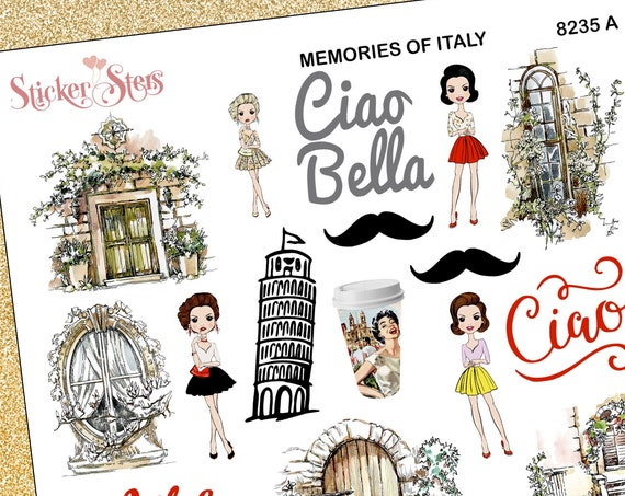 Memories of Italy Planner Stickers Stickers Mini Kit | 8235