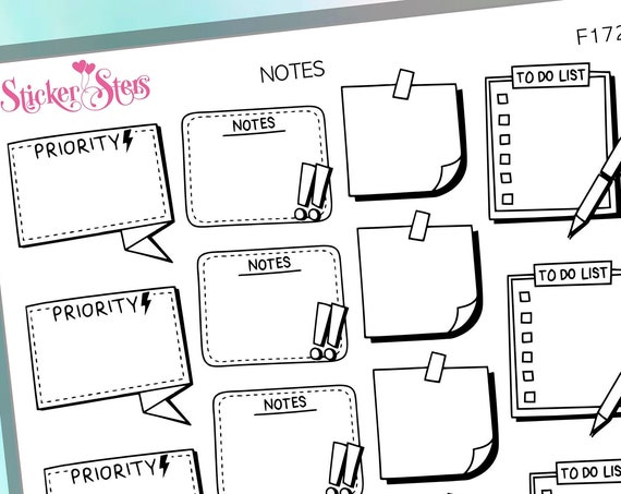 Notes Pt 2 Foil Options Available | F172 Planner Stickers