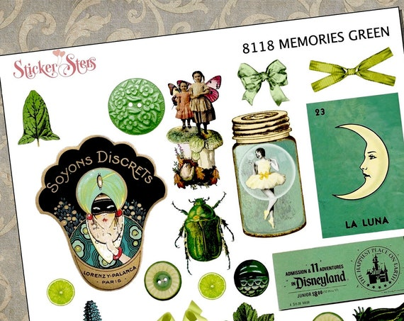 Green Themed Ephemera Mini Kit | 8118