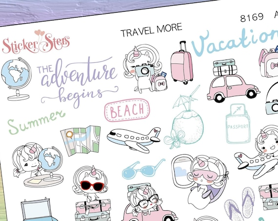 Travel More Planner Stickers Stickers Mini Kit | 8169
