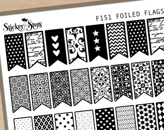 Flags Pennants Foil Options Available | F151 Planner Stickers