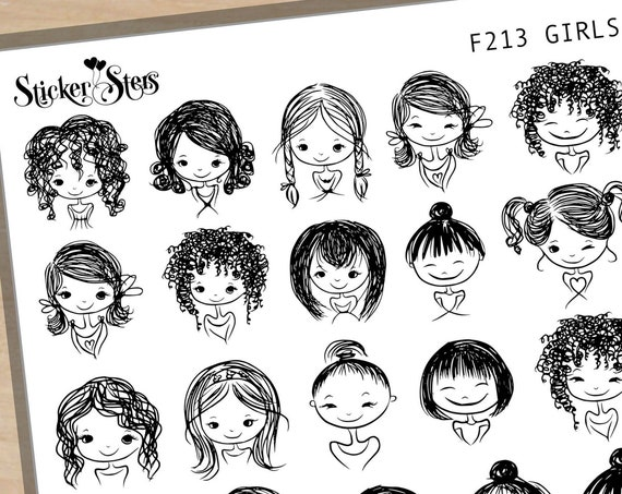 Girls  Foil Options Available | F213 Planner Stickers