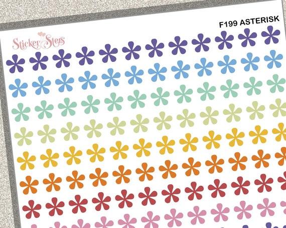 Asterisk | F99  Planner Stickers