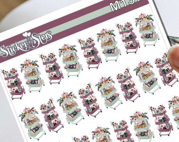 For Mariah Tiny Fall Autumn  Planner Carts Small Sheet Planner Stickers Cute Functional for all Planners | M137