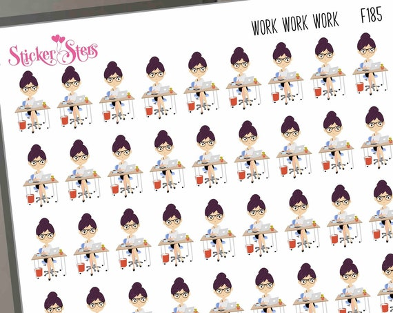 Work work work | F185 Planner Stickers