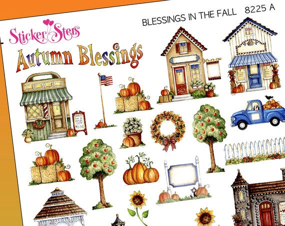 Blessings in the Fall Season Planner Stickers Stickers Mini Kit | 8225