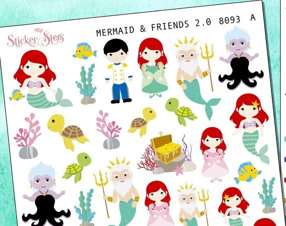 Mermaid 2.0 Planner Stickers Mini Kit | 8093
