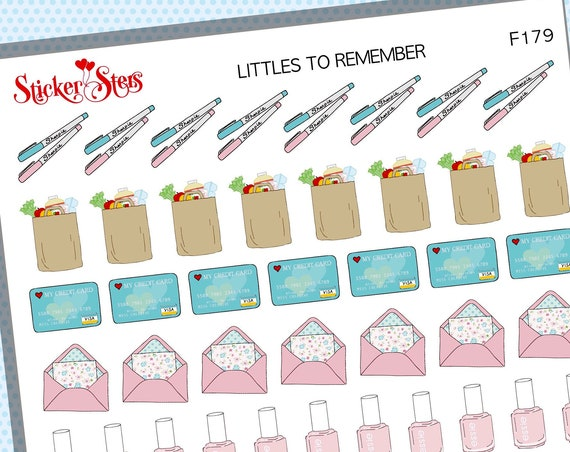 Littles Reminders | F179 Planner Stickers