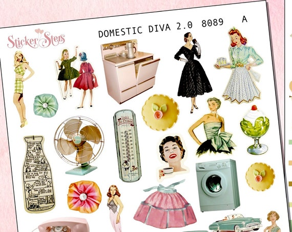 Domestic Diva 2.0 Planner Stickers Mini Kit | 8089