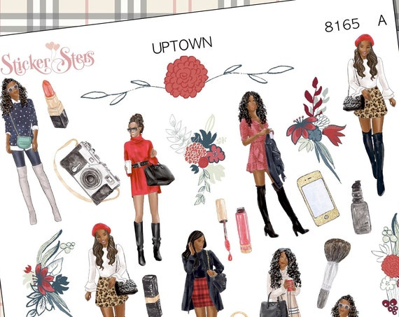 Uptown Fashion Planner Stickers Stickers Mini Kit | 8165 African American