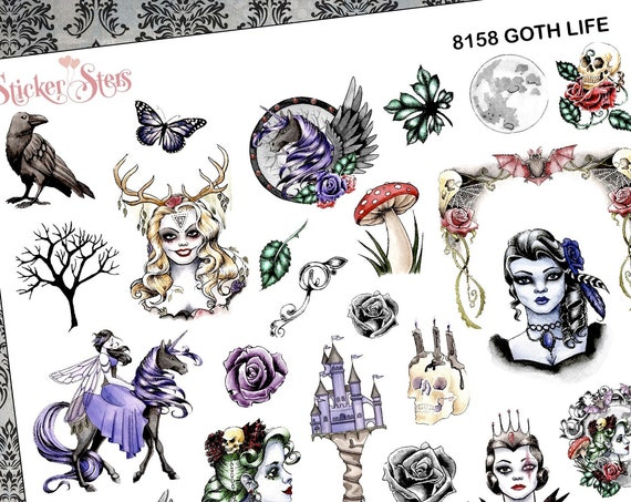 Goth Life Planner Stickers Stickers Mini Kit | 8158
