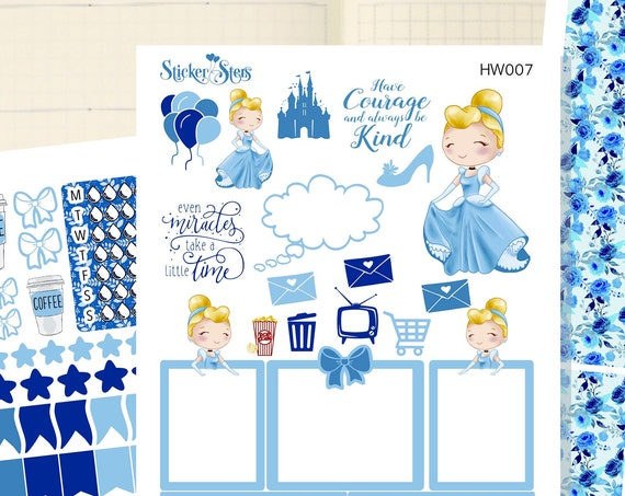 Cindy Slim Planner Stickers Mini Kit | HW007