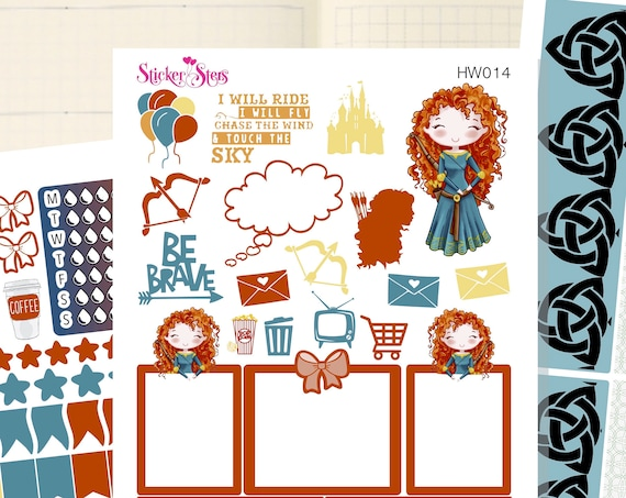 Brave Girl Slim Planner Stickers Mini Kit | HW014