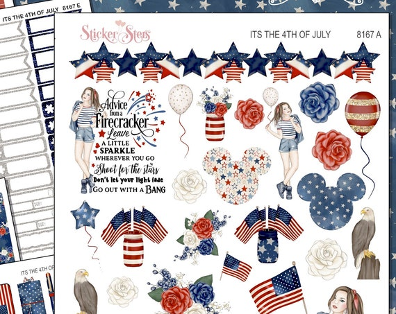 It's the 4th of July Independence Day Planner Stickers Stickers Mini Kit | 8167