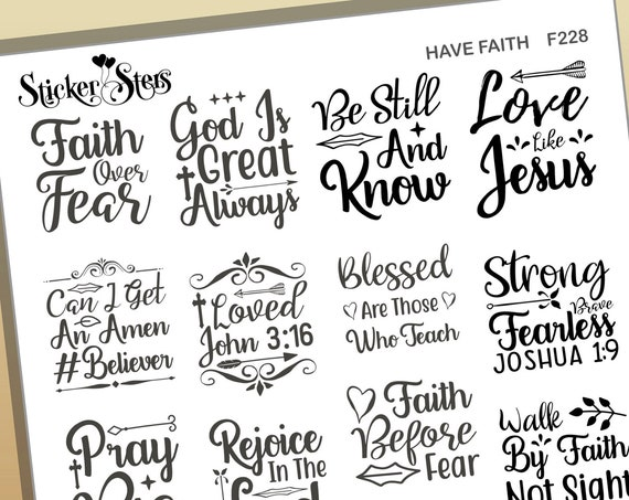 Have Faith Quotes Foil Option Available | F228 Planner Stickers