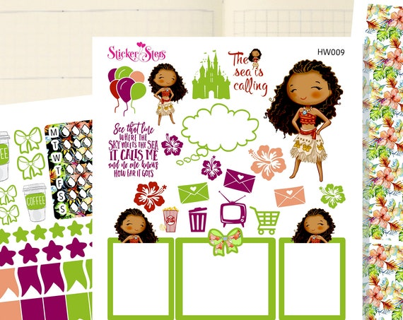 Island Girl Slim Planner Stickers Mini Kit | HW009