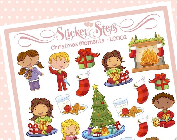 Cute Littles Christmas Moments L0002 Small Sheet Planner Stickers Set Cute and Functional made for all Planners