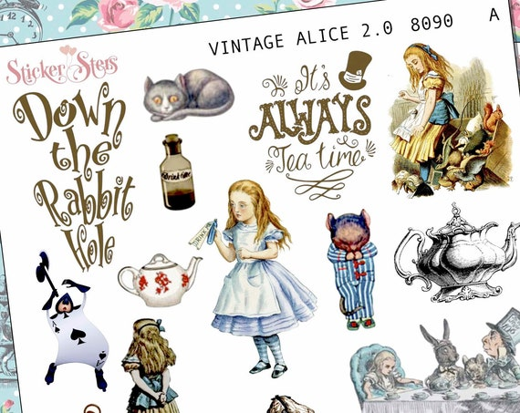 Vintage Alice Planner Stickers Stickers Mini Kit | 8090
