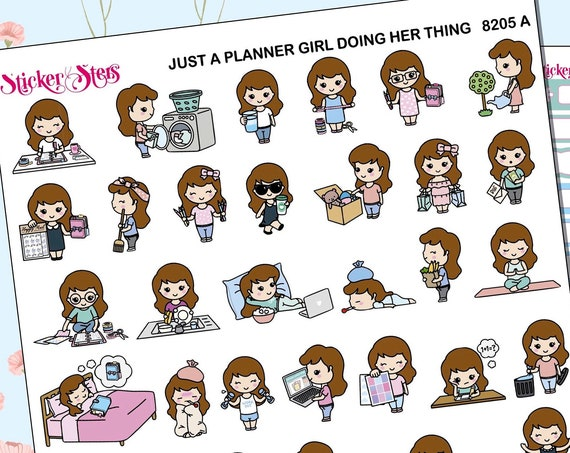Just a Planner Girl Doing Her Own Thing Planner Stickers Stickers Mini Kit | 8205
