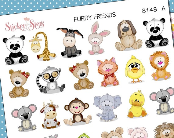 Furry Friends 2.0 Planner Stickers Mini Kit | 8148