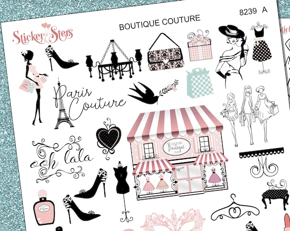 Boutique Couture Planner Stickers Stickers Mini Kit | 8239