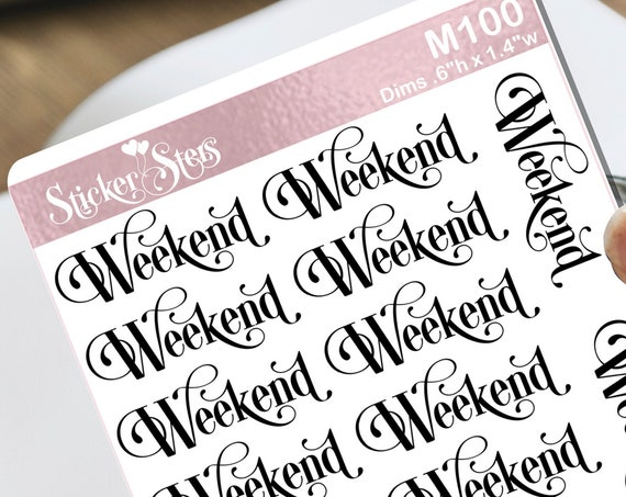 Weekend Small Sheet Planner Stickers Set Cute and Functional made for all Planners