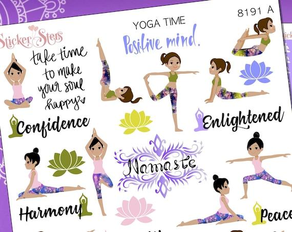 Yoga Namaste Peace Ashtanga Planner Stickers Stickers Mini Kit | 8191