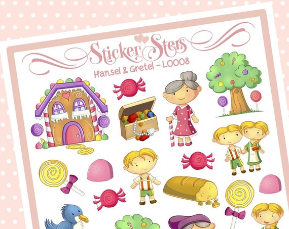 Cute Littles Hansel & Gretel L0008 Small Sheet Planner Stickers Set Cute and Functional made for all Planners