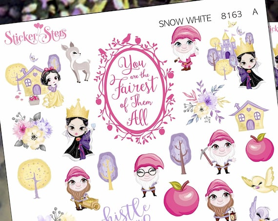 Snow White Planner Stickers Stickers Mini Kit | 8163
