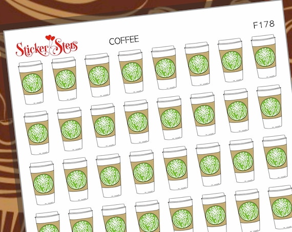 Coffee  | F178 Planner Stickers