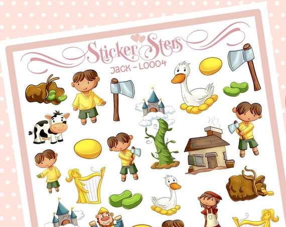 Cute Littles Jack L0004 Small Sheet Planner Stickers Set Cute and Functional made for all Planners