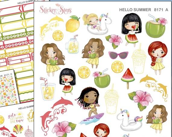 Hello Summer Planner Kit & A La Carte Pages   | 8171