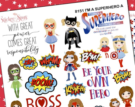 I'm a Super Hero Planner Stickers Stickers Mini Kit | 8161