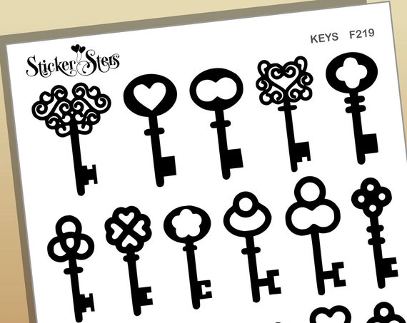 Keys Foil Option Available | F219 Planner Stickers