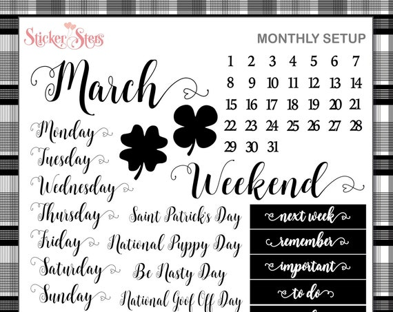 MARCH Planner Stickers