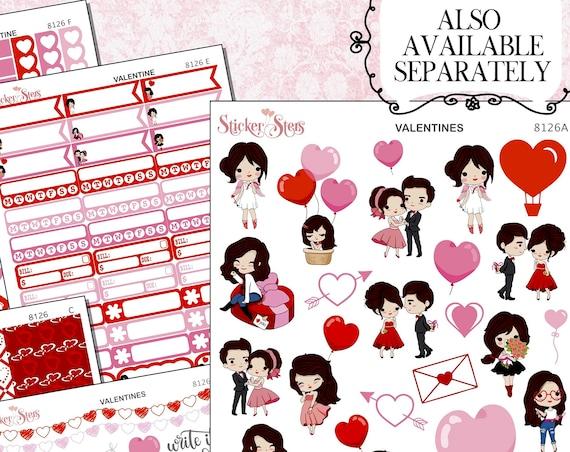 Valentine Planner Stickers Kit | 8126