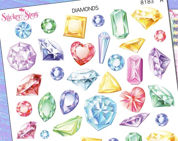 Diamonds Planner Stickers Stickers Mini Kit | 8181